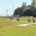 County pupils walk to school