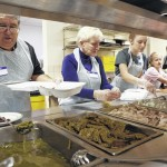 Annual Thanksgiving Day Dinner held at First Baptist Church