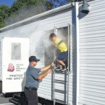 Tharrington students learn fire safety