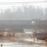 Rain causes flooded roadways