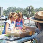Park visitors talk moths and butterflies
