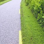 Greenway stripes have safety purpose