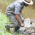 Park ranger leads creek exploration