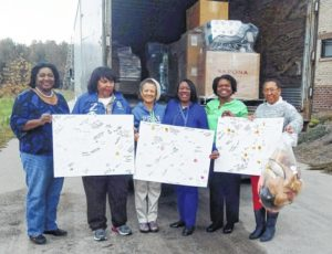 Local group aids storm victims