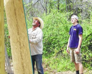 Eagle Scout, friends build picnic shelter