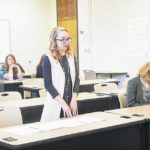 Paralegal students perform mock trial arguments